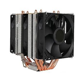 6 الحرارة أنابيب RGB وحدة المعالجة المركزية برودة المبرد التبريد 3pin 4pin 2 مروحة لشركة إنتل