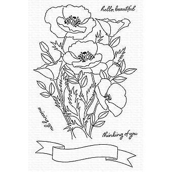 My Favorite Things Wild Poppies Clear Stamps