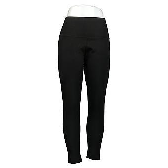 النساء مع السيطرة العادية عكسها لا التماس الجانب Leggings الأسود A384086
