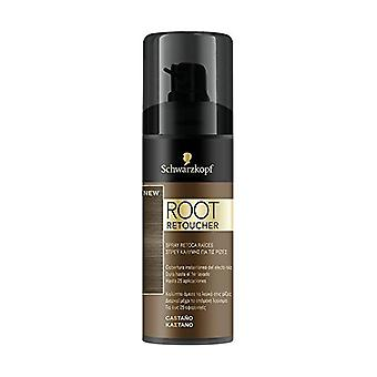 Touch-up Hairspray för Roots Root Retoucher Syoss Brown (120 ml)