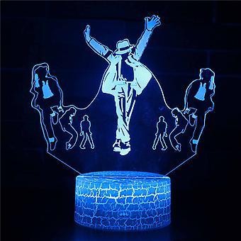 3D Optisk illusionslampa LED Night Light, 7 färger Touch Bedside Lamp Bedroom Table Art Deco Child Night Light med USB Cable Novelty Christmas Birthday Gift-#360