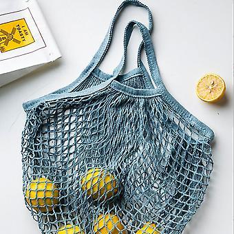 Cotton Mesh Net String Shopping Bag Reusable Foldable Fruit Storage Handbag