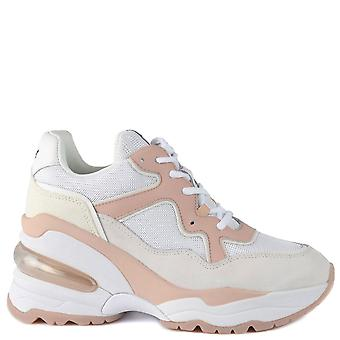 Ash DETOX White And Pinksalt Wedge Trainers