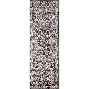 """32"""" x 96"""" Taupe Polyester Runner Rug"""