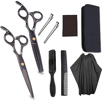 Haircut scissors straight snips thinning hairdressing barber tools lf5