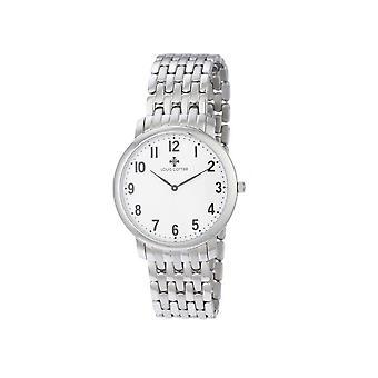 Louis Cottier - MEN's Watch FIRST CLASS Quartz White Dial - Steel Bracelet Case