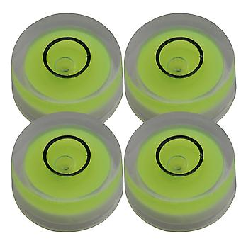 4 Pieces Hand Tool Spirit Level Disc Horizontal Bubble Surface Level