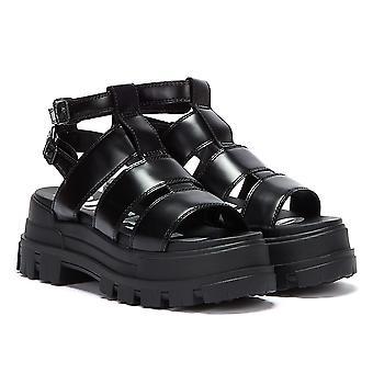 Buffalo Aspha Gladiator Womens Black Sandals