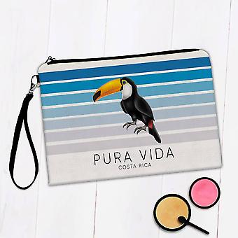 Sac de maquillage cadeau: Toucan Pura Vida Costa Rica Bird