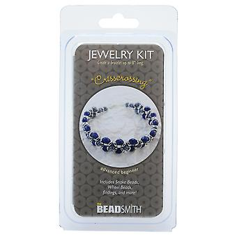 The Beadsmith Jewelry Kit, Crisscrossing Bracelet, 1 Kit