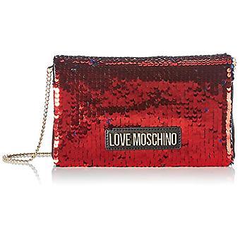 אהבה מוסקינו JC4266PP0BKM0, תיק כתף לנשים, אדום, רגיל