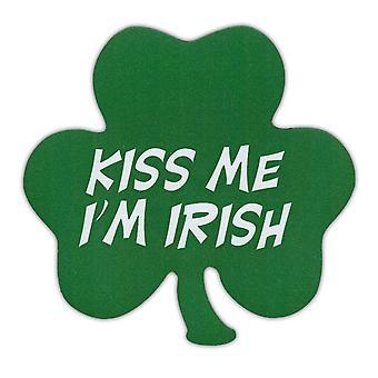"""المغناطيس ، قبلة لي أنا كلوفر الأيرلندية ، 5.25 """"X 5.25"""""""
