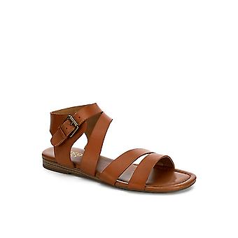 Franco Sarto Womens Genji Leather Open Toe Casual Ankle Strap Sandals