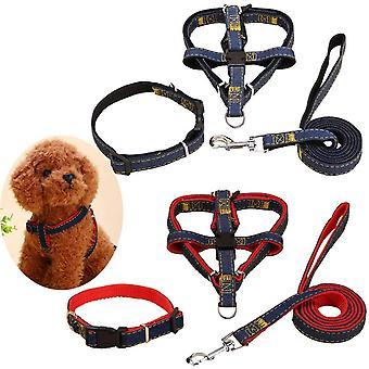 2 Teilige Haustier Hund Leinen Set Rot Schwarz Einschließen 2pcs Seil Hund Führen+2pcs