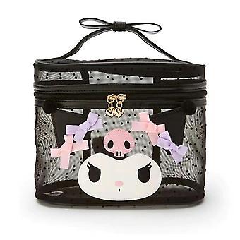 Cute Mesh Trasparente Trasparente Trucco Borsa Make Up Organizer Box Kawaii Lolita Cosmetic Bag (nero)