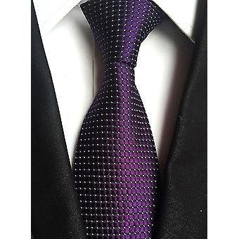 Fashion Striped Plaid Men's Silk Necktie