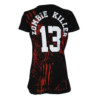 Darkside ZOMBIE KILLER 13 BLACK DEATH Dames Capsleeve T-Shirt