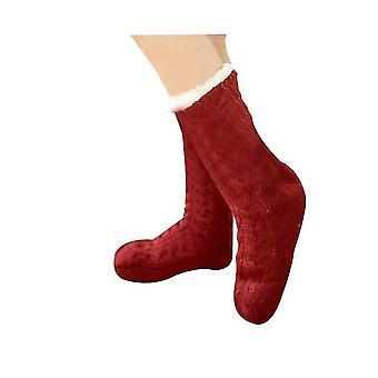 מחממי מחמם רגליים אדום לגרביים רכות לנשים x2756