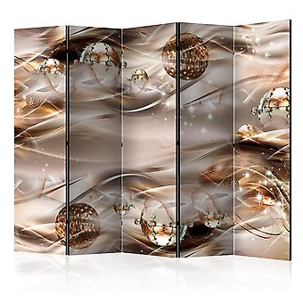 5-teiliges Paravent - Amber Constellation II [Room Dividers]