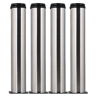For 4pcs Stainless Steel Adjustable Furniture Foot Leg Feet 50*300mm WS3262