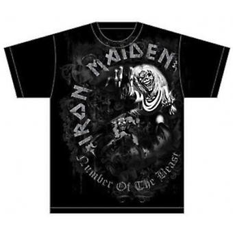 Iron Maiden NOTB Grå Tone Mens T Skjorte: Liten