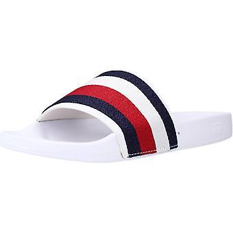 Tommy Hilfiger Flip Flops Shimmery Ribbon Pool Color Ybrwhite