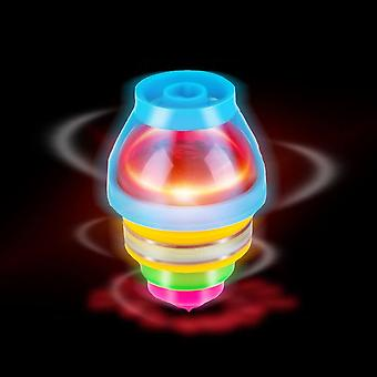 15-pack Led Light Up Flashing Ufo Spinning Tops With Gyroscope Novelty Bulk Toys Party Favors