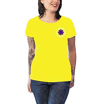 Red Hot Chili Peppers T Shirt Los Chili new Official Womens Skinny Fit Yellow