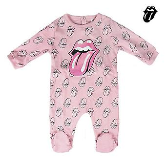 Baby's Long-sleeved Romper Suit The Rolling Stones Pink