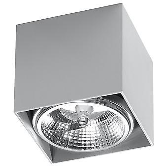 Downlights Square Flush Light Gris clair GU10 monté en surface