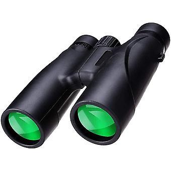 12X32 HD High Magnification Telescopes, Kevyt Urheilutapahtuma, Vaelluskiikareita, Night Vision Low Light -kiikarit,(musta)