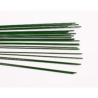 25 Groene Gelakt 1mm Bloemistige Stub Draden - 30cm Lang