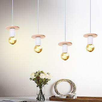 Nordic Simple Wood Antler Pendant Lights Led Hanging Lighting Lamp Fixture white body