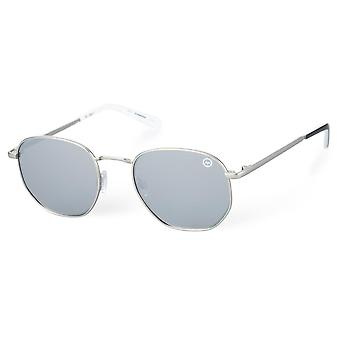 Hype Unisex Volwassen Zilveren Zonnebril
