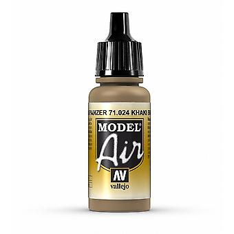 Vallejo Model Air 24 Khaki Brown - 17ml Acrylic Airbrush Paint