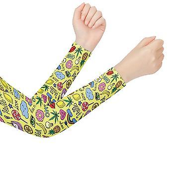 Söpö yksisarvinen painettu käsivarren lämmittimet