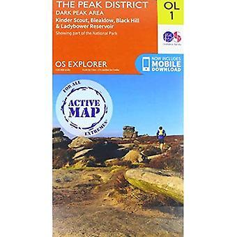 Het Piekdistrict: Dark Peak Area (OS Explorer Active)