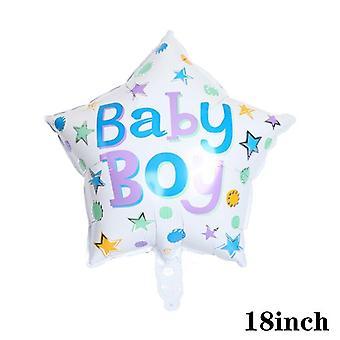 1Pc יפה בייבי רדיד בלון ילדה ילדה מקלחת ורוד זהב כחול כתר יום הולדת קישוט מסיבת ילדים מתנה כדור הליום טוב מתנפח