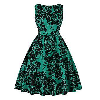 Rockabilly Vintage Hepburn Flared Party Šaty Dámské oblečení Boho Ball Letní formální večerní šaty Koktejlové šaty