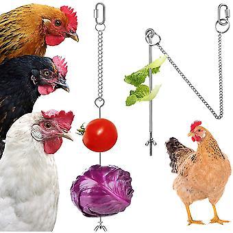 Hängendes Hühnerfutter Huhn Papagei Hängendes Vogelfutter Edelstahl Hühnerfutter Spielzeug