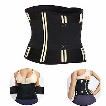 Corset Slimming Belly Belt For Fat Burning (black Band S