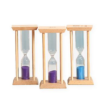 6pcs 1/3/5/10/15/20 Minutes Wooden Hourglass Timer Children's Time Hourglass Student Birthday Toy Gift