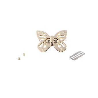 Frauen Schmetterling Metall Diy Schließe Turn Twist Lock für Handtasche Schultertasche Handtasche