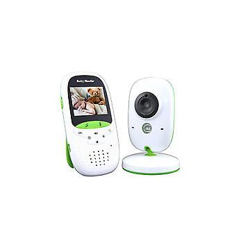 Vb602 2,4 pouces Lcd 2,4 ghz caméra de surveillance sans fil Baby Monitor, support interphone bidirectionnel, vision nocturne (blanc)