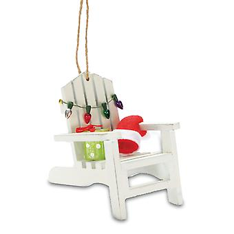 Cape Shore Coastal Beach Adirondack Chair Christmas Tree Holiday Ornament