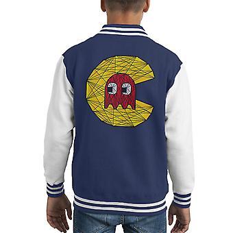 Varsity Jacket de PacMan polygone Stainglass Kid