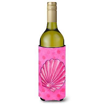 Rosa Sea Shell rosa Polkadot vin flaske Beverge isolator Hugger