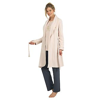 BlackSpade 6125-207 Women's Off White Dressing Gown Loungewear Bath Robe Robe