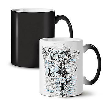 Rythm Of War Old NEW Black Colour Changing Tea Coffee Ceramic Mug 11 oz | Wellcoda