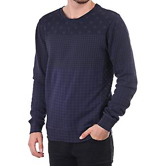 Scotch & Soda Ls Sweat With Dots And Quilt Detail